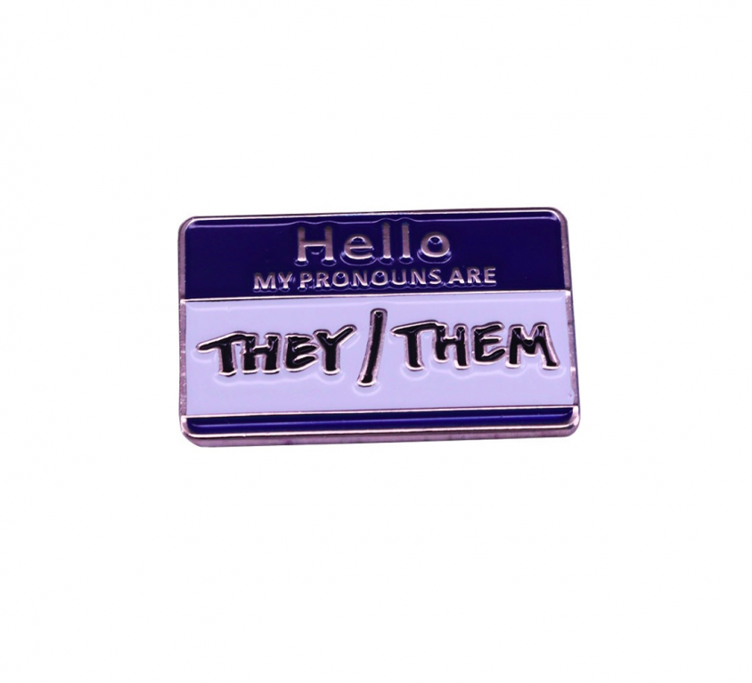 PINS -THEY/THEM bleu