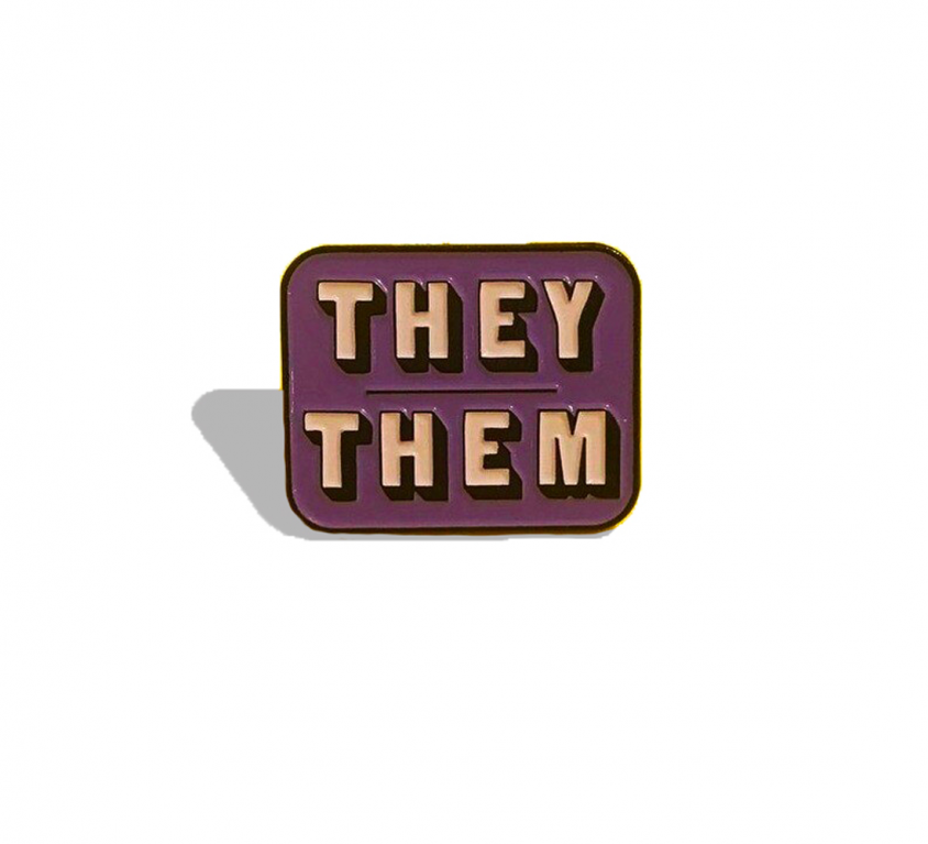 PINS -THEY/THEM violet